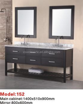 Da Pavimento In Legno Massiccio Lavandino Doppio Bagno Vanity Cabinet  (wmd-152) - Buy Doppi Lavandini Vanità Bagno,Pavimento In Legno Mobiletto  Del ...