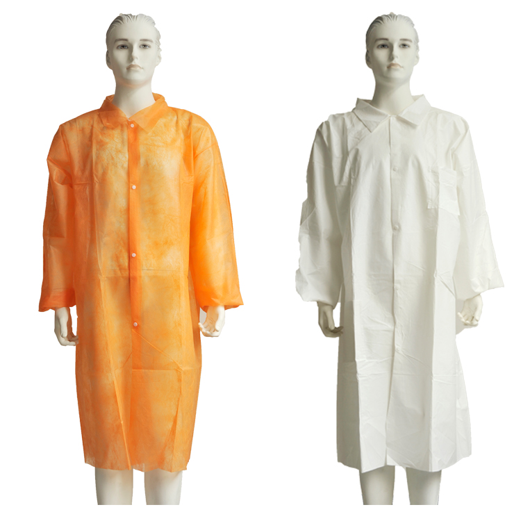 Disposable Non Woven Paper Lab Coats With Different