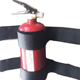 Bracket style design fire extinguisher car trunk holder