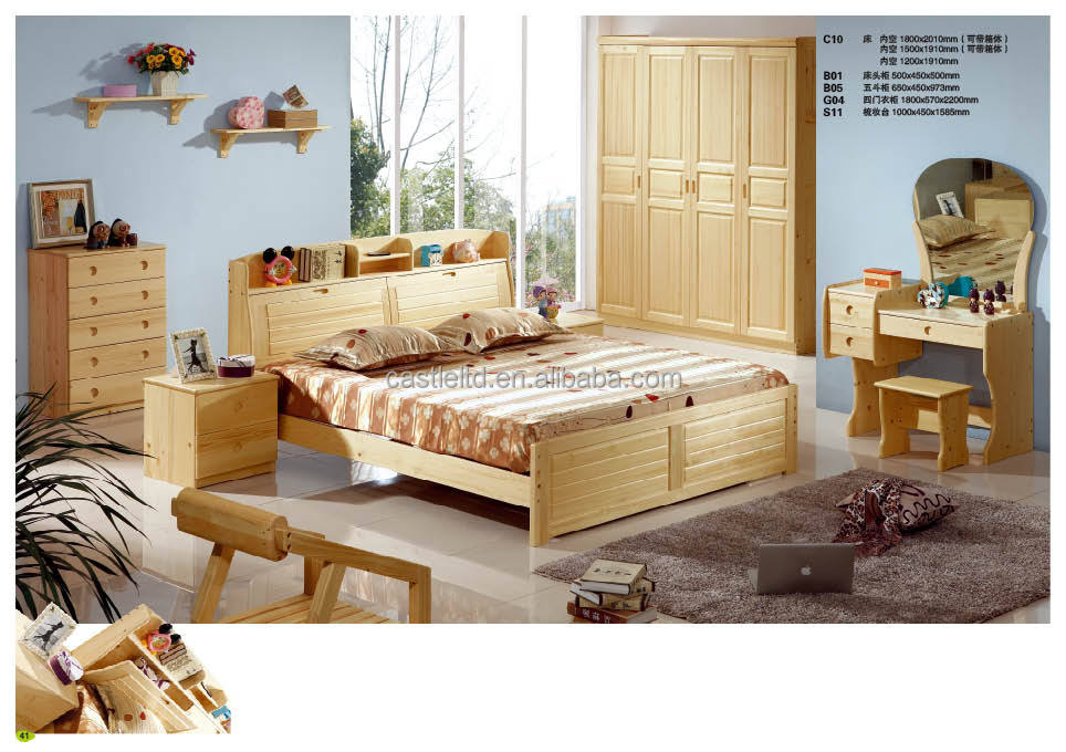 Pine Wood Bedroom Furniture #19: Storage Bed,Finland Pinewood Bed,Kids Bed,Youth Bedroom,Master Bedroom Sets