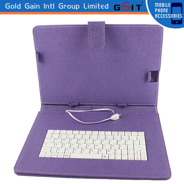 High Quality Universal Bluetooth Flip Case with Keyboard for 10 inch Tablet Cover