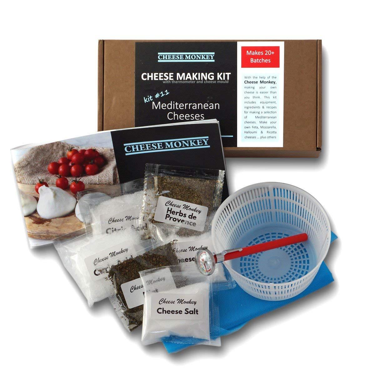 Cheese Making Kit (20 Batches) Halloumi, Feta, Mozzarella, Ricotta and 8 other Mediterranean cheeses! by Cheese Monkey