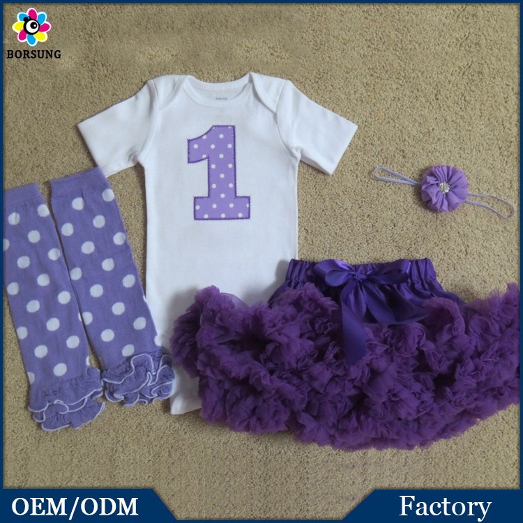 b2f347aac0df China Factory - Purple Lavender Dot Baby Girls 1 Years Old Birthday ...
