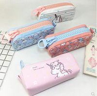 2018 fashion high quality big capacity zipper unicorn pencil case