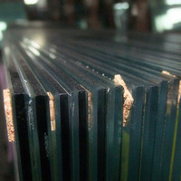 "Top quality good price laminated glass 1"" thick glass panels"