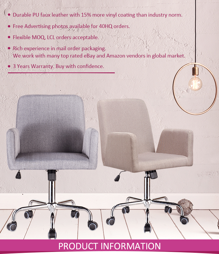 Fabric Desk Computer Home Office Lounge Chair Ergonomic For ...