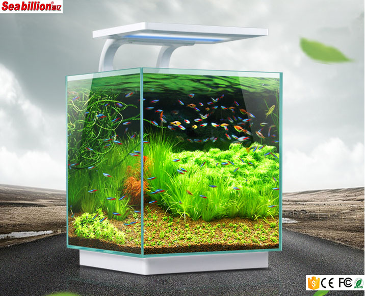Quadrate mini Aquarium acryl aquarium cube met led hoge licht lamp