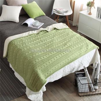 Australian Merino Wool Knit Cable Blanket