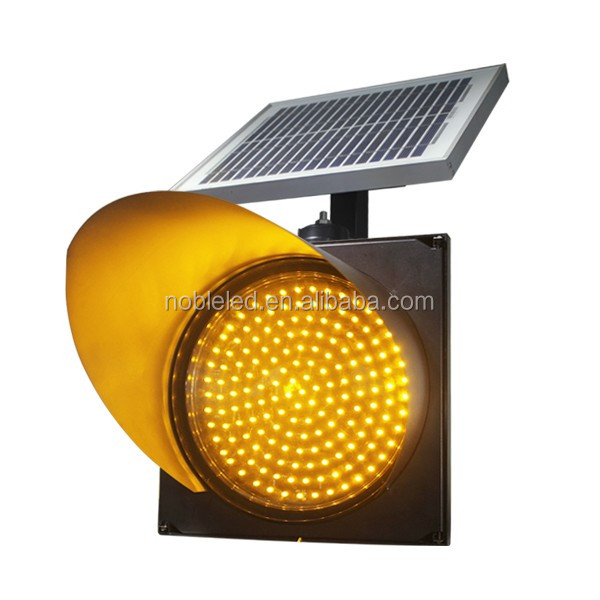 200mm road safety solar powered traffic warning light