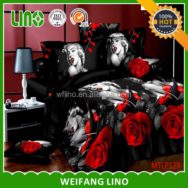 tulip bedding/bed sheet cover/kid bedding 3d