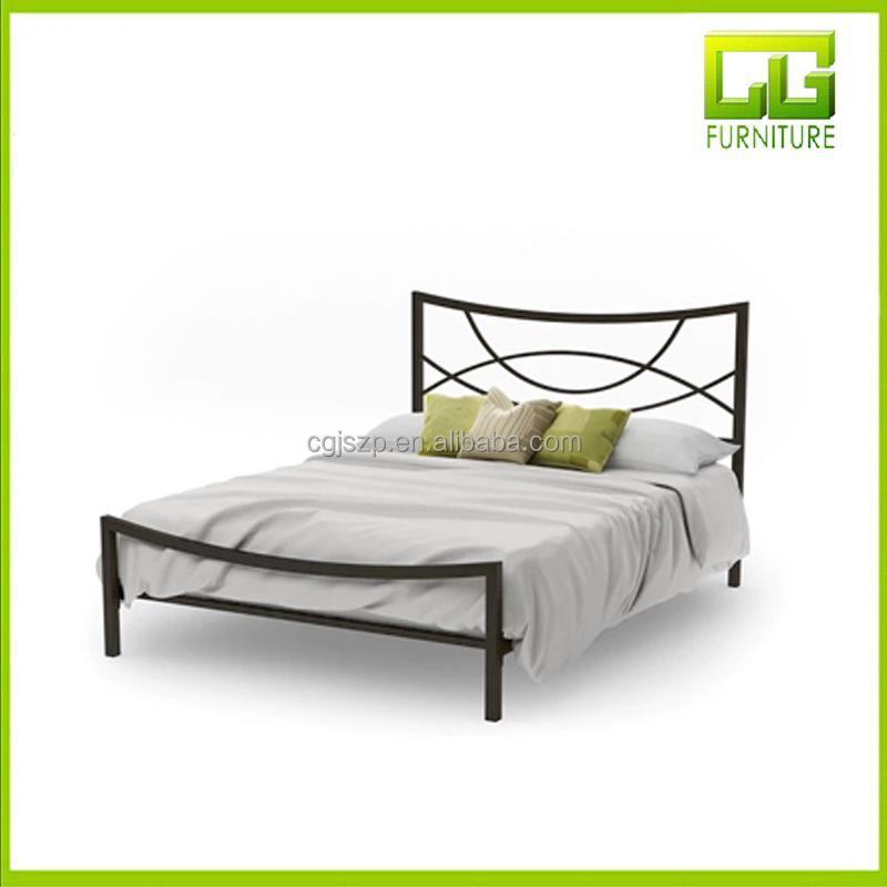 Factory industrial all iron metal bed designs for sale