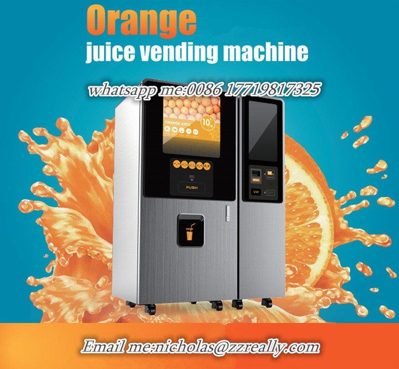 Coin Operated Juicer ~ Automated vending coin operated orange juice fruit