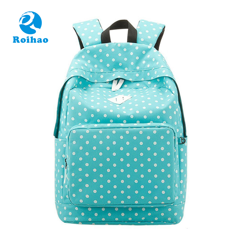 2017 New Design Comfortable Blue Travelling Backpack Bag Women
