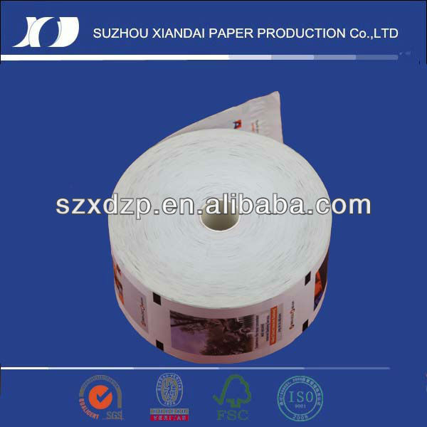 2012 most popular & high quality ATM paper roll glitter paper roll paper roll price