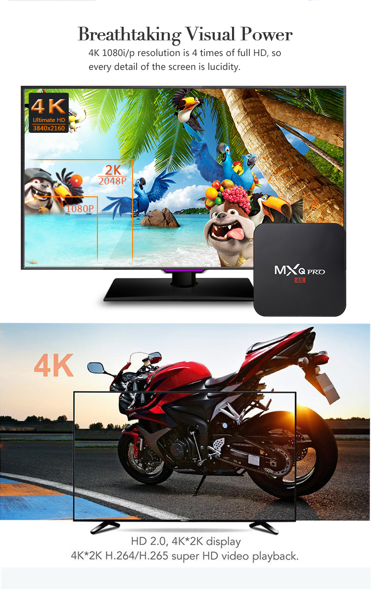 Android 7.1 4 К Ultra HD S905W tv box