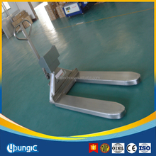 weigh scale hand pallet trucks(low price&fast delivery&sthenghthen packing)