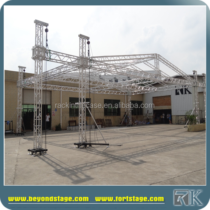 Aluminum Ceiling Lighting Curved Global Truss System
