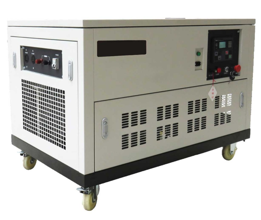 Silent 25KW Gasoline Generator with Water Cool Four Cylinder Automobile Carburetor EFI Engine