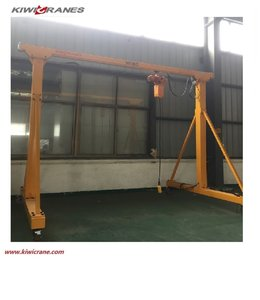 High quality mobile single girder door portal gantry crane 1.5 ton