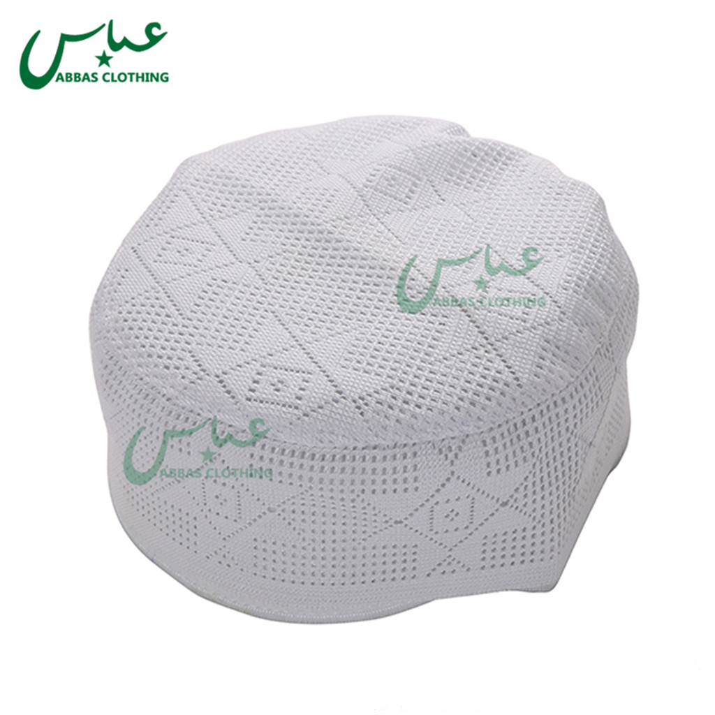 2019 Thick High Quality Prayer Cap for Men Muslim Crochet Cap