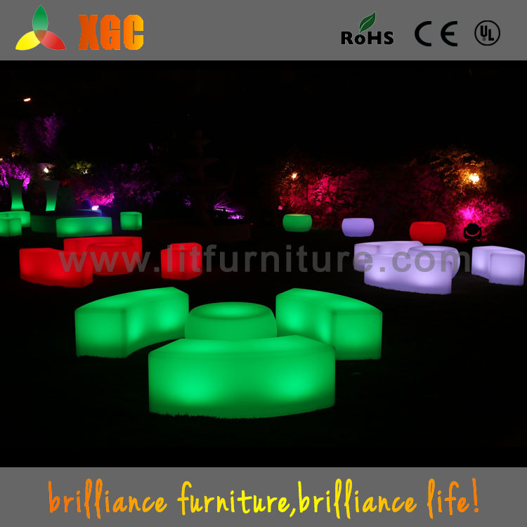 China Supplier Led Plastic Snake Bench Chair,Light Up Garden Stool ...