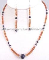 Designer Mandarin Spessartite Garnet Strand Necklace