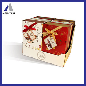 atractive brands Wedding favor boxes chocolate package paper boxes with lids and ribbon from SH supply