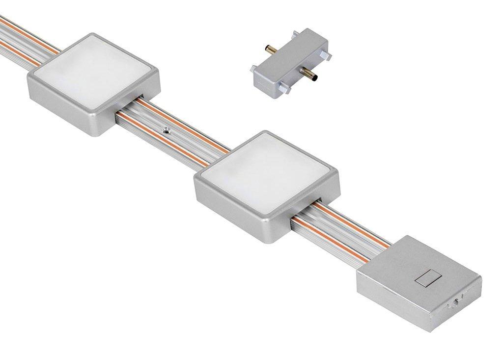 "Jesco Lighting KIT-RZ-EXT-T12-SQ2-30-SV Radianz 2-Light Square LED Track Lighting Extension Kit, Silver, 12"""