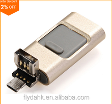 3 in 1 usb flash drive for iphone and smartphone 8gb/16gb/32gb/64gb/128gb otg usb flash drive.