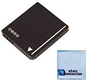 DMW-BCF10 Li-Ion Rechargeable Camera Battery for Panasonic Lumix DMC-TS1, DMC-TS2, DMC-TS3, DMC-F2, DMC-F3, DMC-FH1, DMC-FH20, DMC-FH3, DMC-FX48, DMC-FX75, DMC-FS6, DMC-FS7, DMC-FS8, DMC-FS15, DMC-FS25, DMC-FS42, DMC-FP8 Digital Camera Models &More + Microfiber Cloth | CGA-S/106B