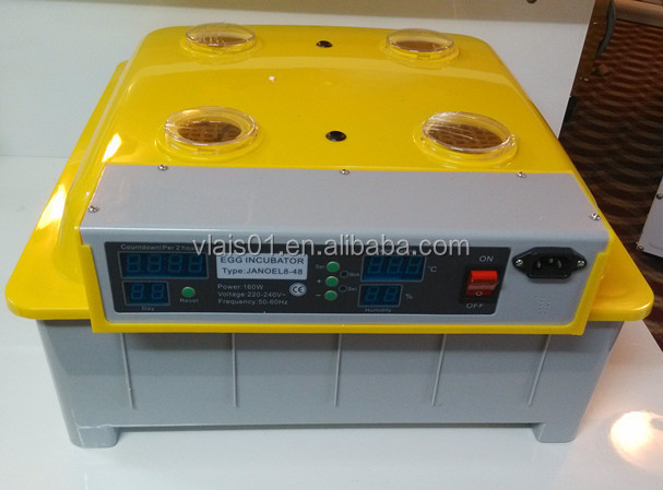 Best selling good price mini egg incubator machine, 48 chicken eggs incubator, egg hatching machine for sale