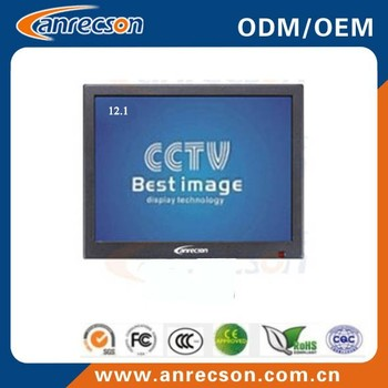 12.1 Inch Color Lcd Display Led Cctv Monitor For Crime Prevention ...