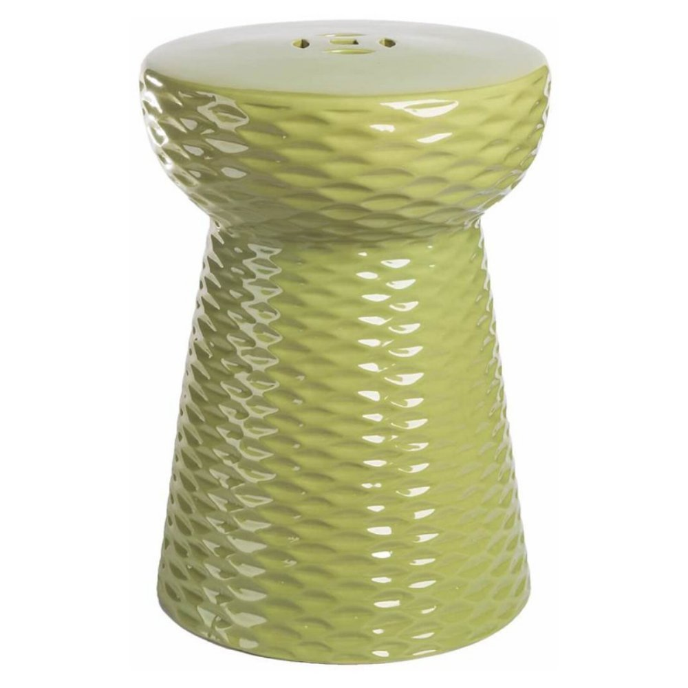 Get Quotations · Abbyson Living Lavenda Ceramic Garden Stool In Lime Green
