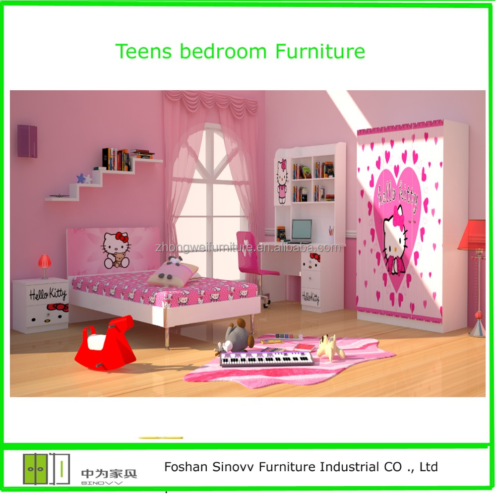 Hello kitty dibujos animados para ni os dormitorio juegos for Dormitorio animado