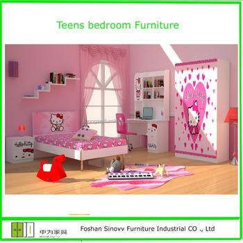 Hello Kitty Dibujos Animados Para Niños Muebles De Dormitorio Juegos ...