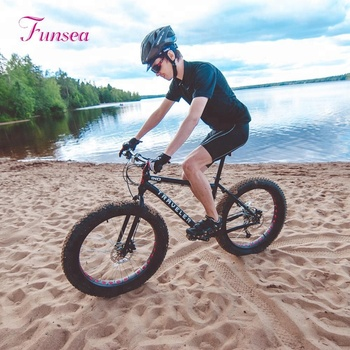 Factory high quality custom 20'' 26'' tyre bicycles fatbike cycles for men Aluminum 26x4.0 alloy rims e bike fat snow bike