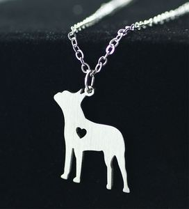 Simple Style Stainless steel dog pendant necklace Pet dog jewelry