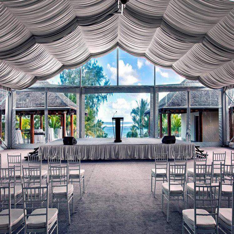 COSCO Clear Span открытый свадьба навес для вечеринки для 100 человек с декоративная накладка
