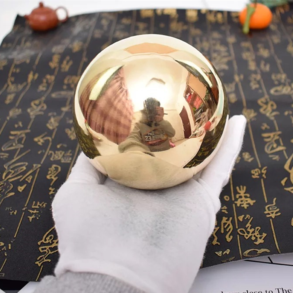 hollow brass balls 60mm 65mm mirror surface hollow brass spheres