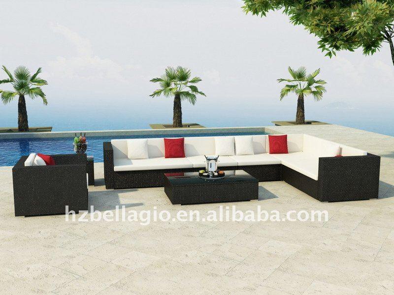 outdoor rattan sofa wicker sofa f rderung terrasse gartenm bel auf lager rattan korbsofa. Black Bedroom Furniture Sets. Home Design Ideas