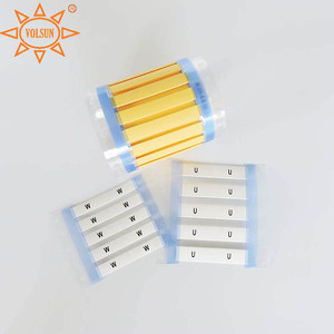 Temperature Resistance Electrical Marking Plastic Cable Label