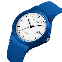 Skmei Minimalist Slim Band Quartz Movement PU Plastic Lady Watch