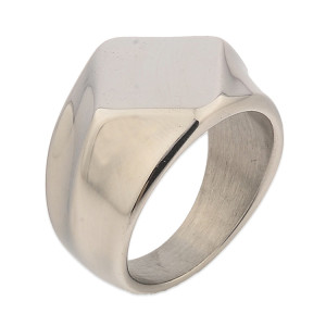 Wholesale Plain Silver Blanks Stainless Steel Ring Men