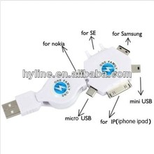 6 in 1 High Quality Universal USB Charge Cable For iPhone & iPad Micro USB /NK/SE/SAM