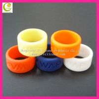 Wide size debossed logo pure color promotional gift finger ring any OEM are ok any design or color are available