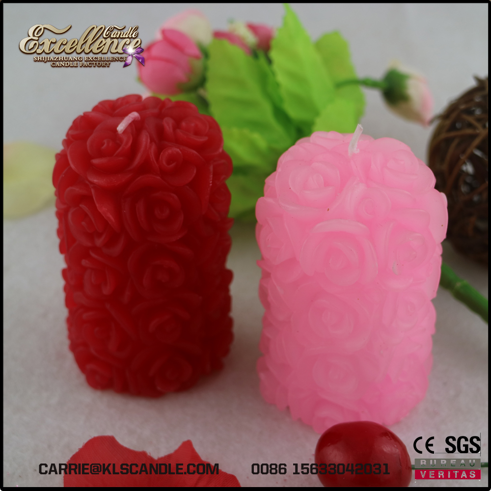 Rose Pillar Wedding Candle, Rose Pillar Wedding Candle Suppliers and ...
