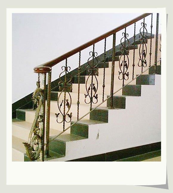 Top venta simple hierro fundido escalera interior - Escaleras hierro forjado ...