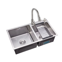 Sri Lanka Topmount Double Bowl Various Styles Kitchen Stainless Steel Sink