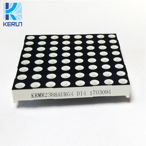 P7.62 flexible LED display screen 5mm bicolor 8x8 indoor led dot matrix display module