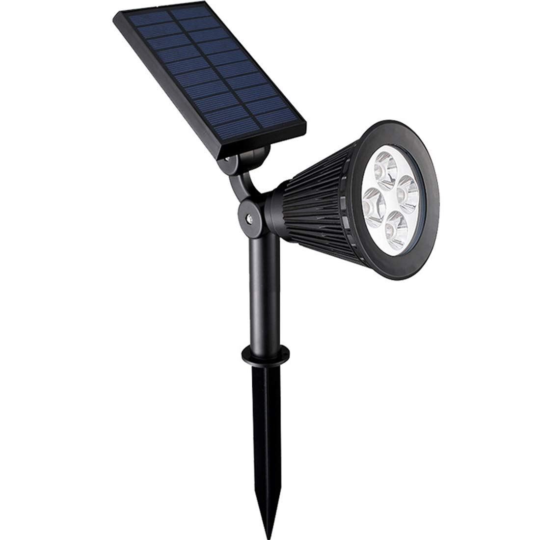 Sububblepper Solar Lights Outdoor, Waterproof 4 LED Solar Spotlight Adjustable Wall Light Landscape Light Easy-to-Install Security Lights for Patio, Deck, Yard, Garden (Color : Cold White)